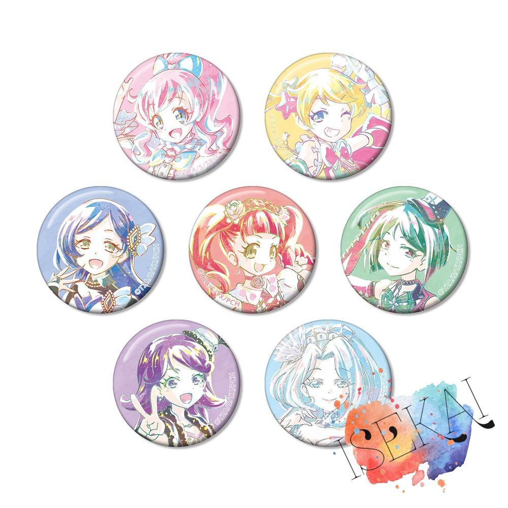 Bonita insignia de canal de Anime, Momoyama Mirai Moegi Emo Aoba Rinka Sara Akagi Anna Shidou Meru, pines con insignia metálica, broches