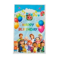 10pcslot baby shower party decoration cocomelon theme chocolate candy gifts bags kids boy favors happy birthday party loot bag