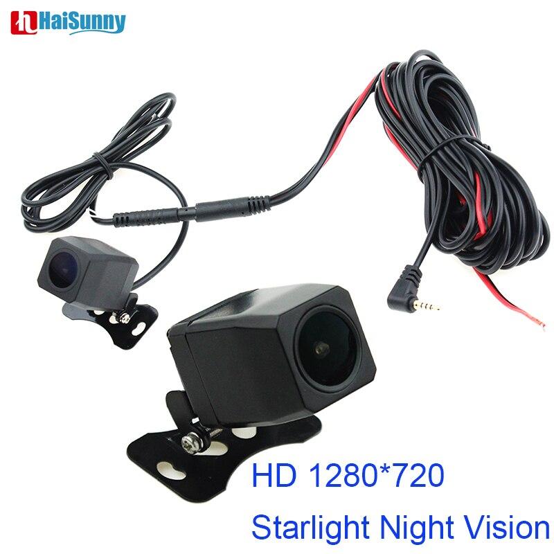 Starlight visión nocturna 1280*720 MCDD cámara de visión trasera inversa lente gran angular 2,5mm Jack 4 pines para grabadoras de espejo DVR de coche