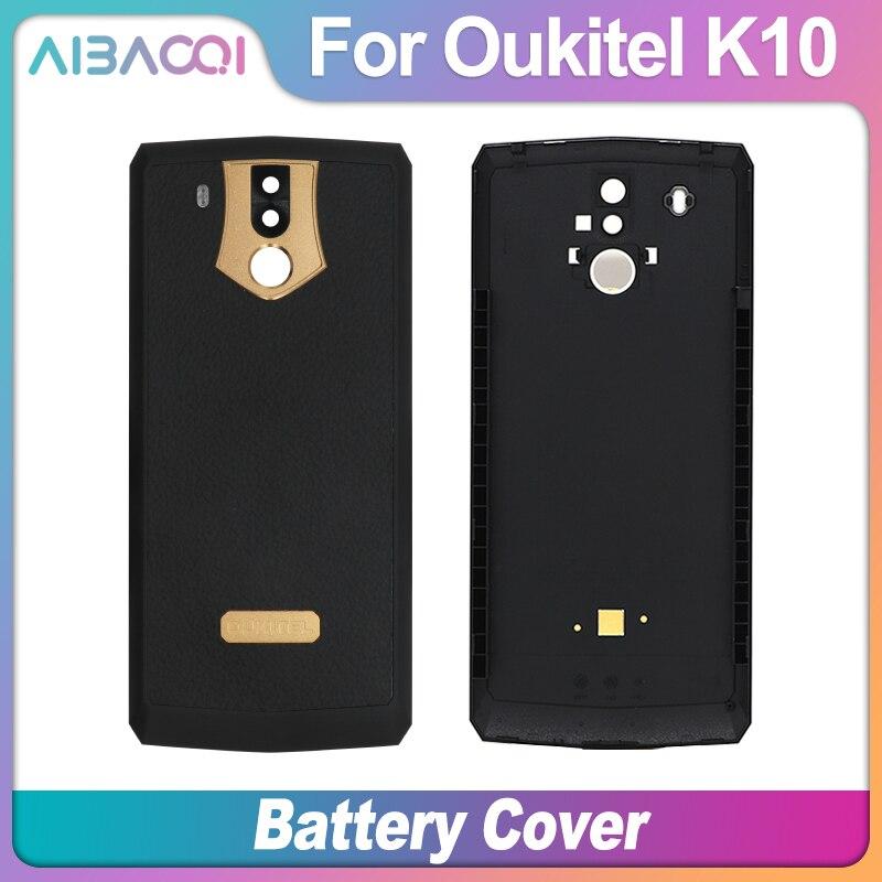 Nuevo Original Oukitel K10 caja protectora de batería cubierta trasera + cristal de la cámara para teléfono Oukitel K10 de 6,0 pulgadas