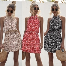 Yg brand women's 2021 summer new street sexy off shoulder bandage bow print short neck dress