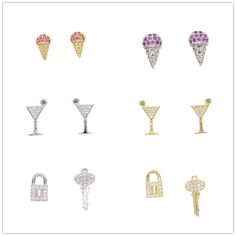 Différents types dété mignon Mini boucles doreilles colorées bijoux délicats pour les femmes cadeau de mariage 2020 nouveau Style Unique