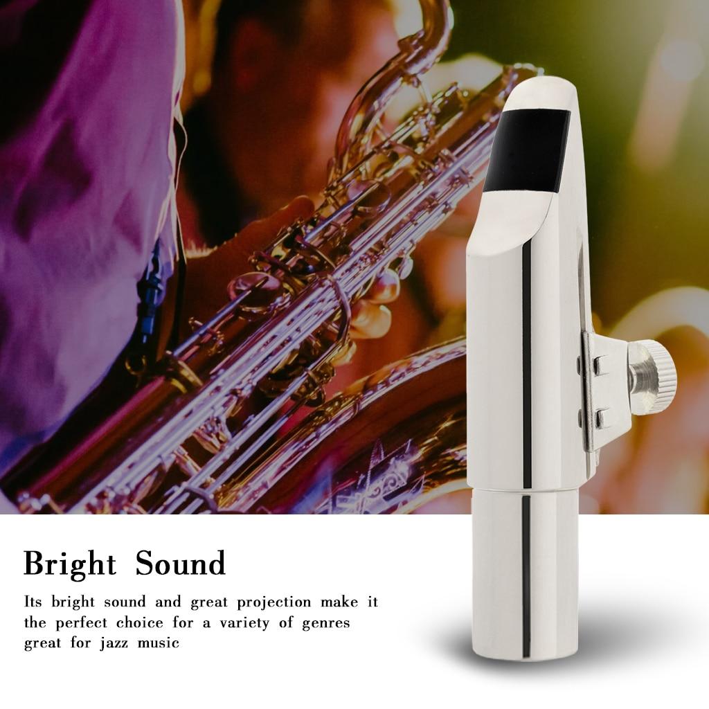 NAOMI Tenor Saxophone Mouthpiece Tip Type (5-9) w/Metal Cap Ligature Black Cushion Sliver Plated Nice Sound Sax Accessories enlarge