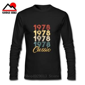 Made In Classic 1978 All Original Parts Birthday T Shirt Man's Long Sleeved Clothes High Quality Tee Shirt Cotton O Neck T-Shirt