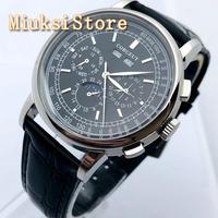 Мужские повседневные деловые часы с серебристым циферблатом, 42 мм