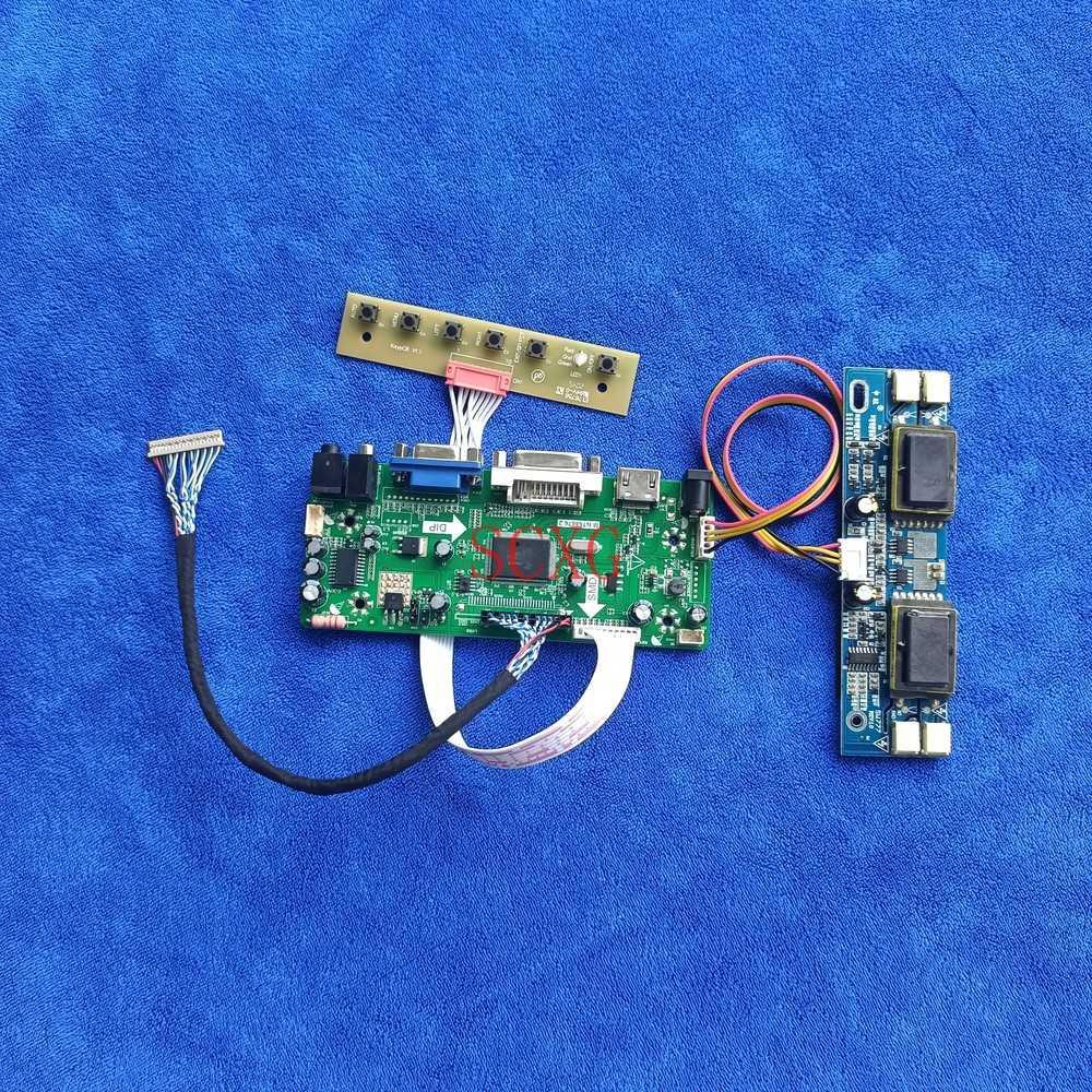MNT68676 لوحة للقيادة 4CCFL شاشات كريستال بلورية LVDS 20 دبوس ل LQ170K1LW01/LQ170K1LW02/LQ170K1LW11 HDMI متوافق VGA DVI 1280*768 عدة