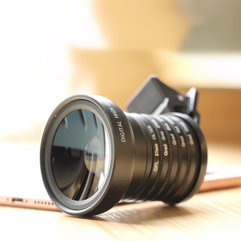 BAKEEY 11 In 1 Wide Angle Macro Phone Lens Fisheye newest CPL Polarizer Gradient Filter Lens With Clip Fishing eye for phone