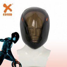 XCOSER Tron Rinzler noir casque tête complète jeu Cosplay masque Festival fête de vacances Cosplay casque accessoires accessoires de costumes