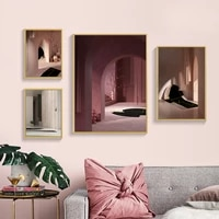 wall art canvas paintings abstract architecture building landscape poster print picture for living room home interior decoration