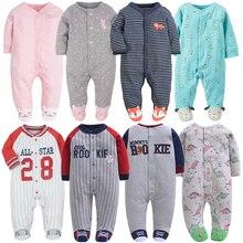 Orangemom-barboteuse à manches longues   Pyjama 100% coton, vêtements de bébé en dessin animé imprimé, pour garçons et filles, printemps
