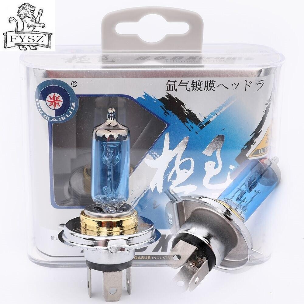 2 uds 9003 H4 HB2 100W bombilla de coche faros halógenos P43T-38 5000k 2800lm 12v Serie yodo lámpara de xenón es super luz blanca