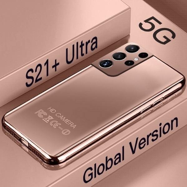 Global Version S21+ Ultra 5G 7.3 Inch Smartphone 16GB+512GB 6800mAh 24MP+48MP Unlocked Smartphone Mobile Phones