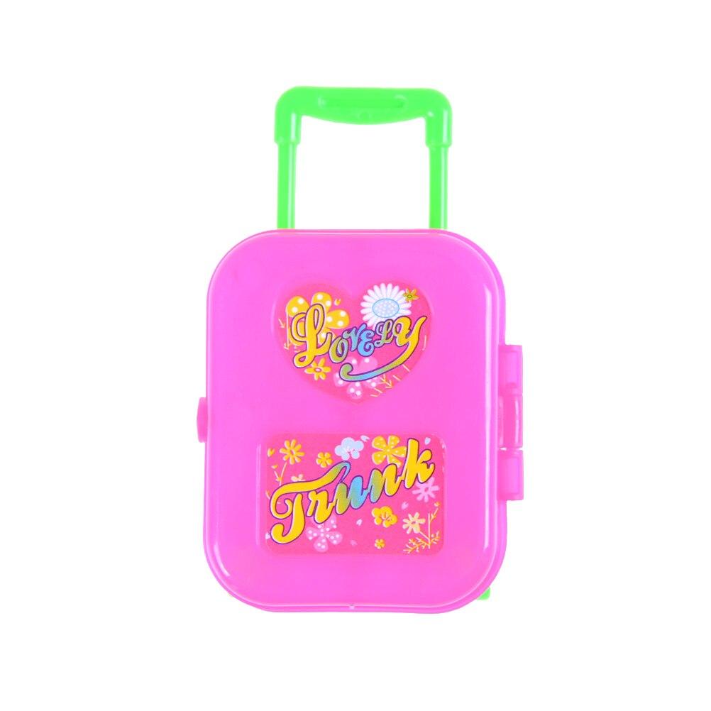 Handwerk Kunststoff rosa Reise Box für Barbie Puppe DIY Kinder Kinder Baby Pretend Spielen Möbel Spielzeug Bildungs Klassische Spielzeug