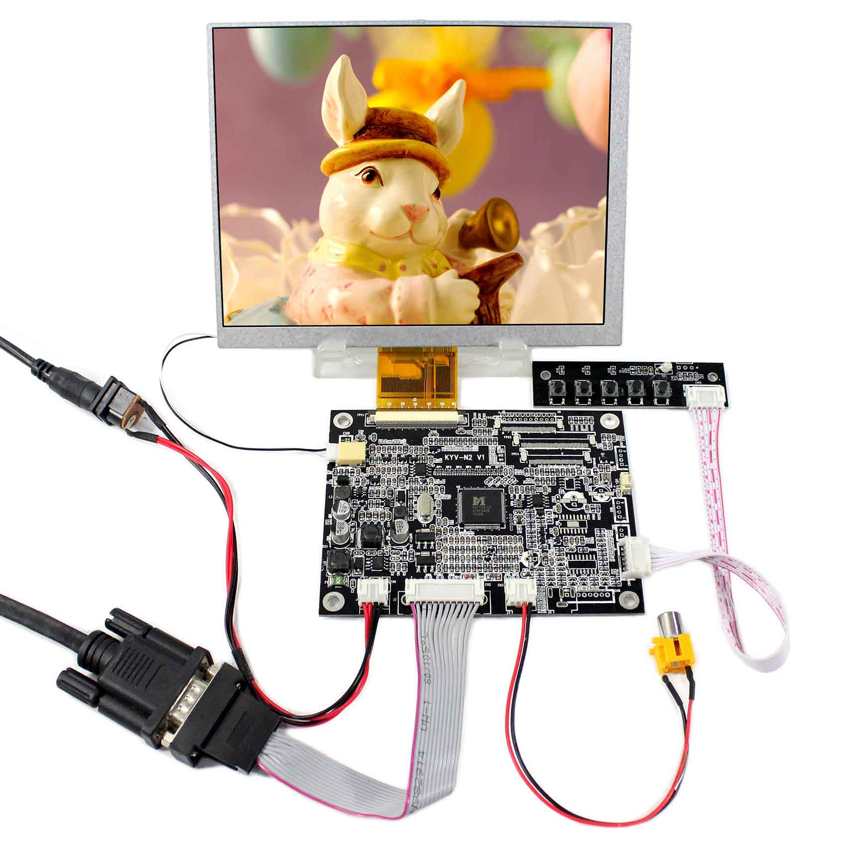 VGA AV LCD Controller Board+7inch CLAA070MA0ACW 7inch 800x600 Screen
