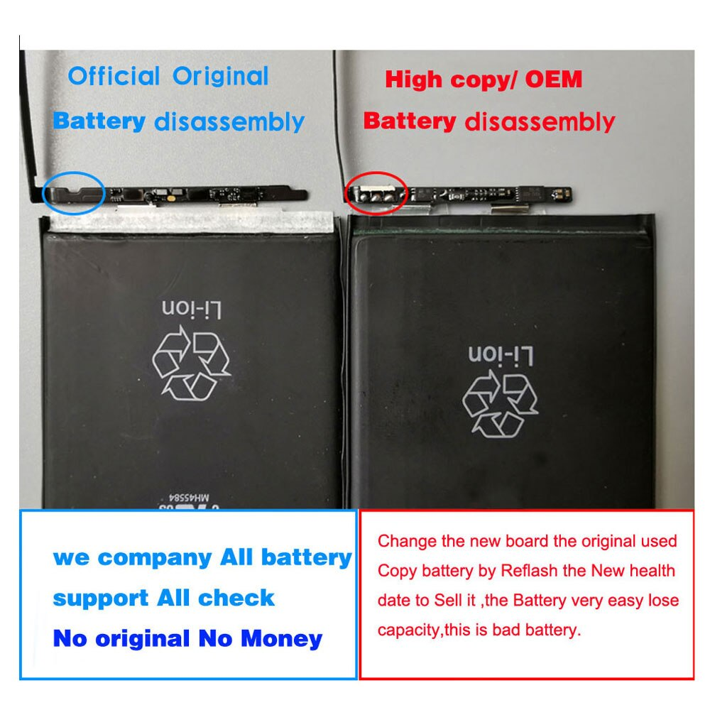 Original New Battery For iPhone 6 6S 7 8 Plus Replacement Bateria For Apple iPhone X SE 2020 Repair parts enlarge