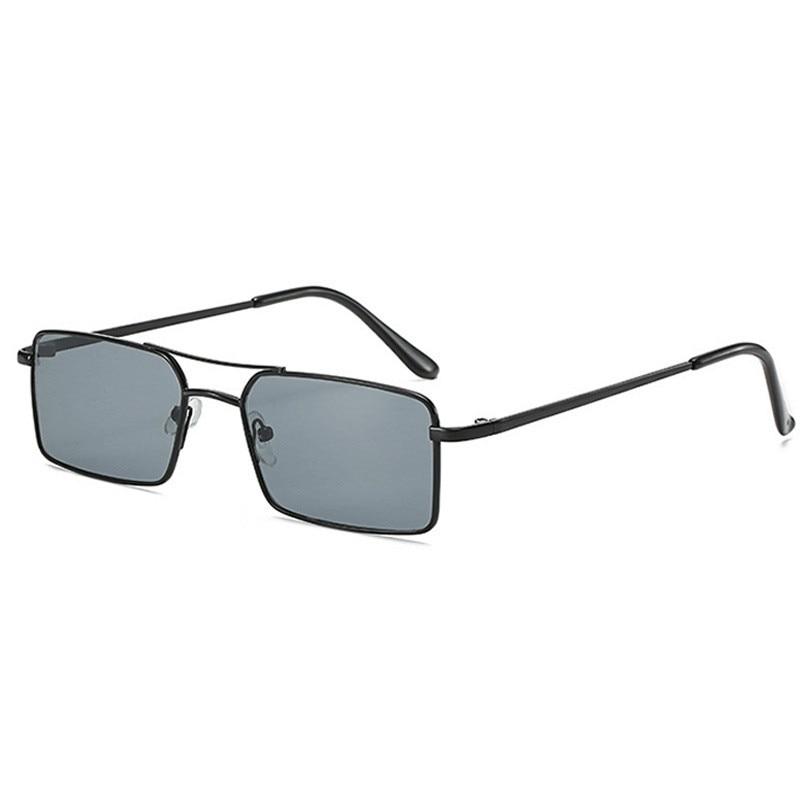 2020 Alloy Metal Small Frame Clear Double Square Women Sunglasses Men's Sun Glasses Women Vintage Ch