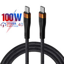 KAIQISJ 100W USB C To USB Type C Cable USBC PD Fast Charger Cord USBC 6A Type-c Cable For Xiaomi POCO X3 M3 Samsung Macbook iPad