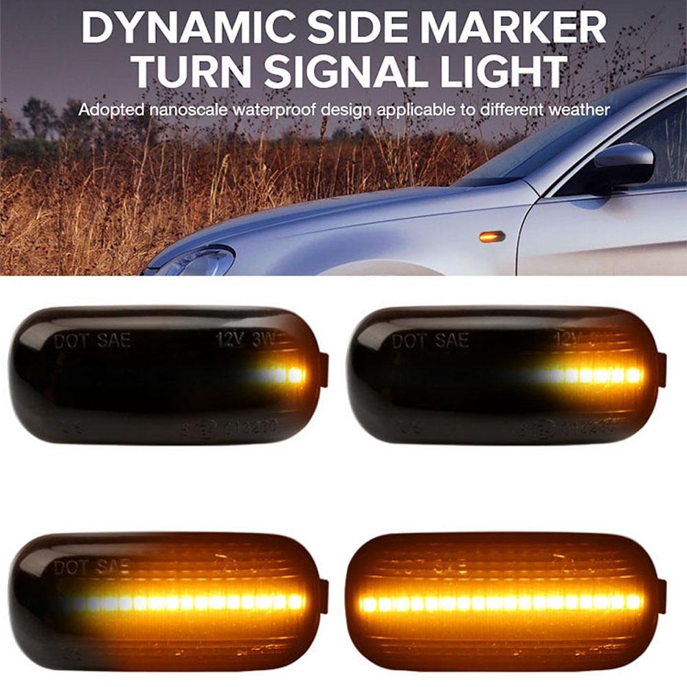 2 pieces Side Signal Light Led Dynamic Turn Marker Indicator Following Blinker Lamp For Volkswagen VW Ford Skoda SEAT Passat L-D