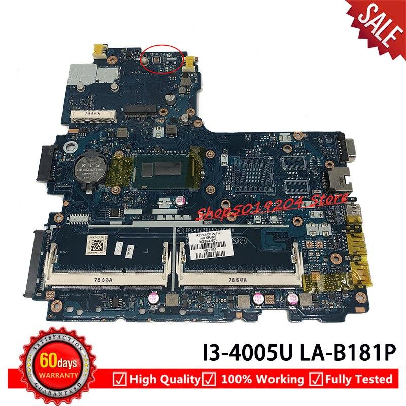 LA-B181P MB para HP 450 G2 440 G2 placa base para portátil 783994-001 783994-501, 783994-601, 784093-001 i3-4005U 100% probado placa base