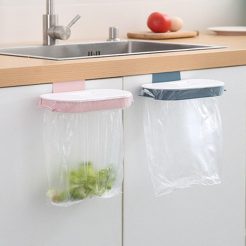 Bolsa de basura de cocina, bolsa de basura de rejilla para colgador, tapa de puerta de armario montada en pared de hogar, bolsa de plástico, estante de almacenamiento