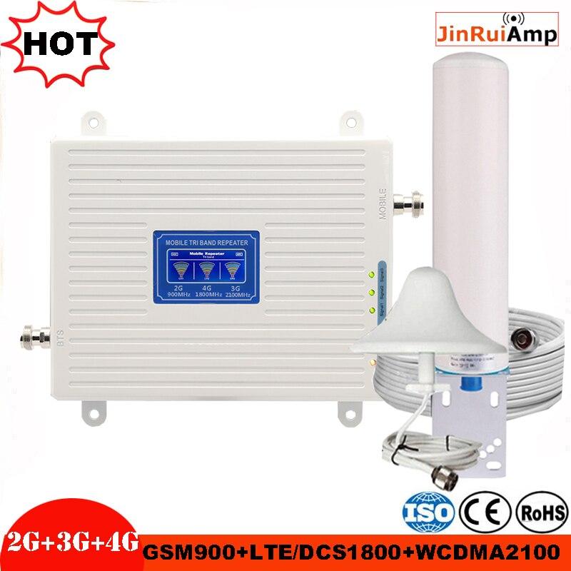 2g 3g 4g tri banda impulsionador gsm 900 + dcs/lte 1800 (b3) + umts/wcdma 2100 (b1) repetidor de sinal móvel gsm 900/1800/2100 amplificador de sinal