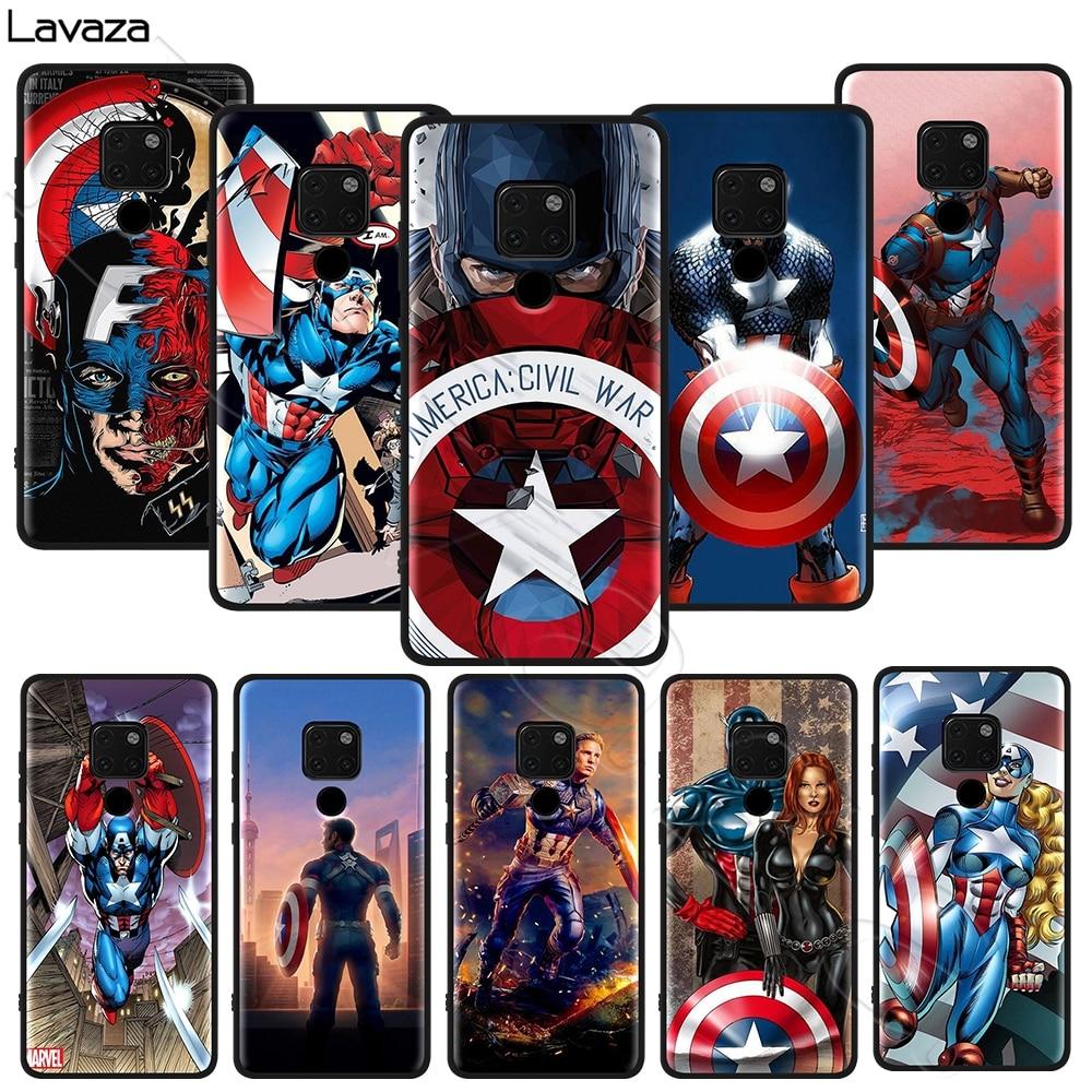Lavaza Capitán América de marvel caso suave para Honor amigo 10 20S 6A 7A 7C 7X 8A 8C 8X 9 P9 Lite Pro Y6 Y7 Y9 primer