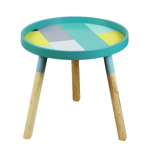 Small Fresh Mini Coffee Tables Creative Wood Low Round Tables Living Room Home Furniture Home Decoration Accessories