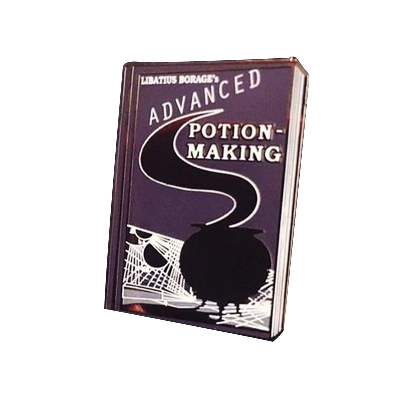 Advanced Potion-Making Book Brooch Majic Witchcraft Cauldron Badge Harry Snape Half Blood Prince Decor