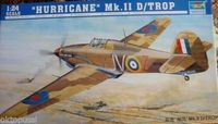 1/24 Trumpeter British Hurricane Mk.II D-Trop Fighter Aircraft 02417 TH06668-SMT6