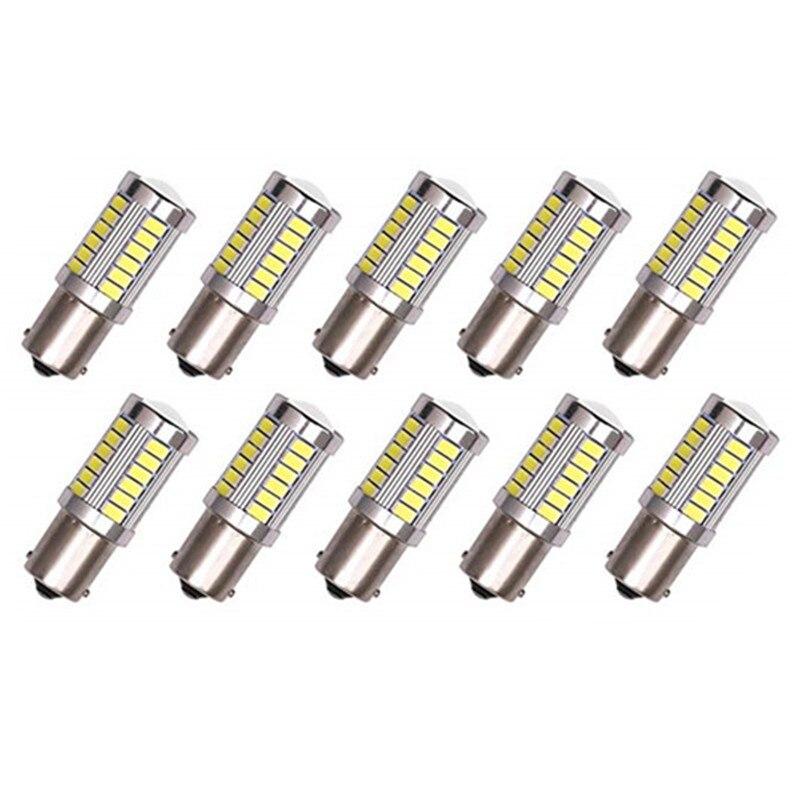 10 шт./лот 1156 5630 33 светодиода указатели поворота BA15S P21W Автомобильная задняя лампа стоп-сигналы Автомобильные дневные ходовые огни