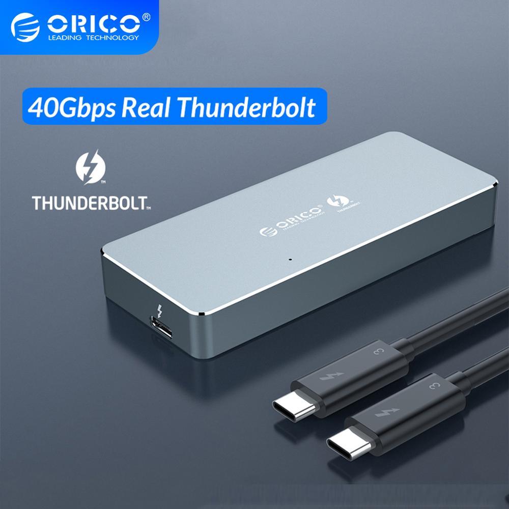 ORICO Thunderbolt 3 40 Гбит/с NVME M.2 SSD корпус 2 ТБ алюминий type-C с 40 Гбит/с Thunderbolt 3 C к C кабель для окна Mac