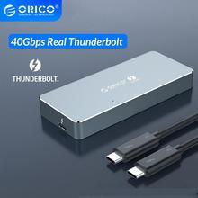 Orico thunderbolt 3 40 gbps nvme m.2 ssd 인클로저 2 테라바이트 알루미늄 타입-c, 40 gbps thunderbolt 3 c-c 케이블, mac windows 용
