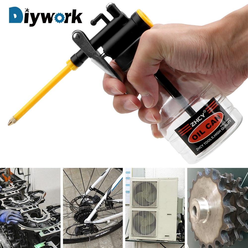 DIYWORK 250 мл прозрачное масло для смазки масленка пластиковый машинный насос высокого давления прозрачный масленка смазка Flex Gun