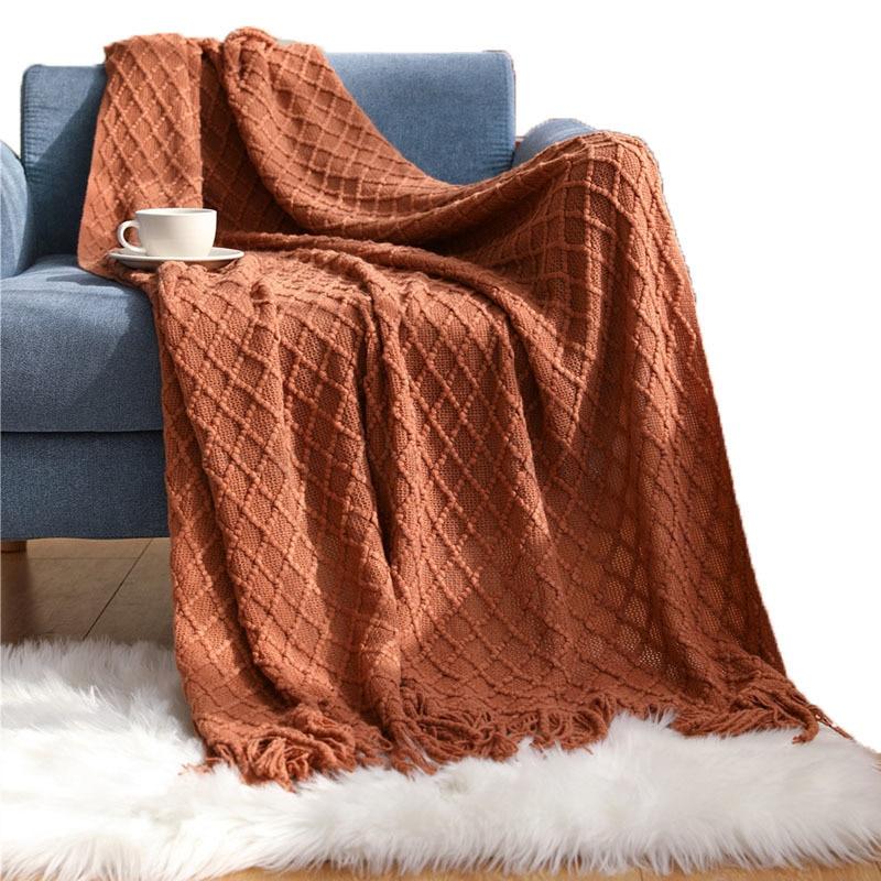 الشمال تكييف الهواء بطانية كنبة مكتب بطانية الربيع الصيف بطانية شرابة قيلولة بطانية بطانية بطانية المنزلية