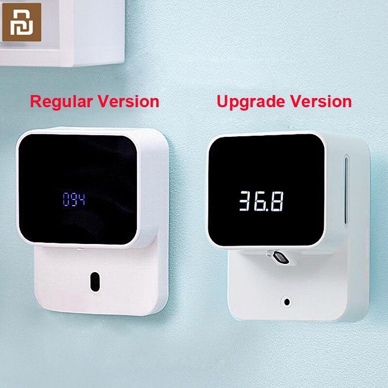 Youpin Xiaozhi LED عرض درجة حرارة الجسم رغوة هلام الحائط وعاء توزيع الصابون الأوتوماتيكي X6 الأشعة تحت الحمراء غسل الهاتف