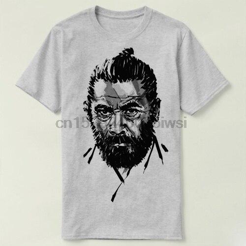 Camiseta de algodón de manga corta okiro kurosowo toshiro mifune para hombre (2)