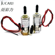 Jucaili 4 Uds impresora de gran formato válvula solenoide de cabeza recta de 3 vías para cristaljet infiniti phaeton JYY válvula eléctrica