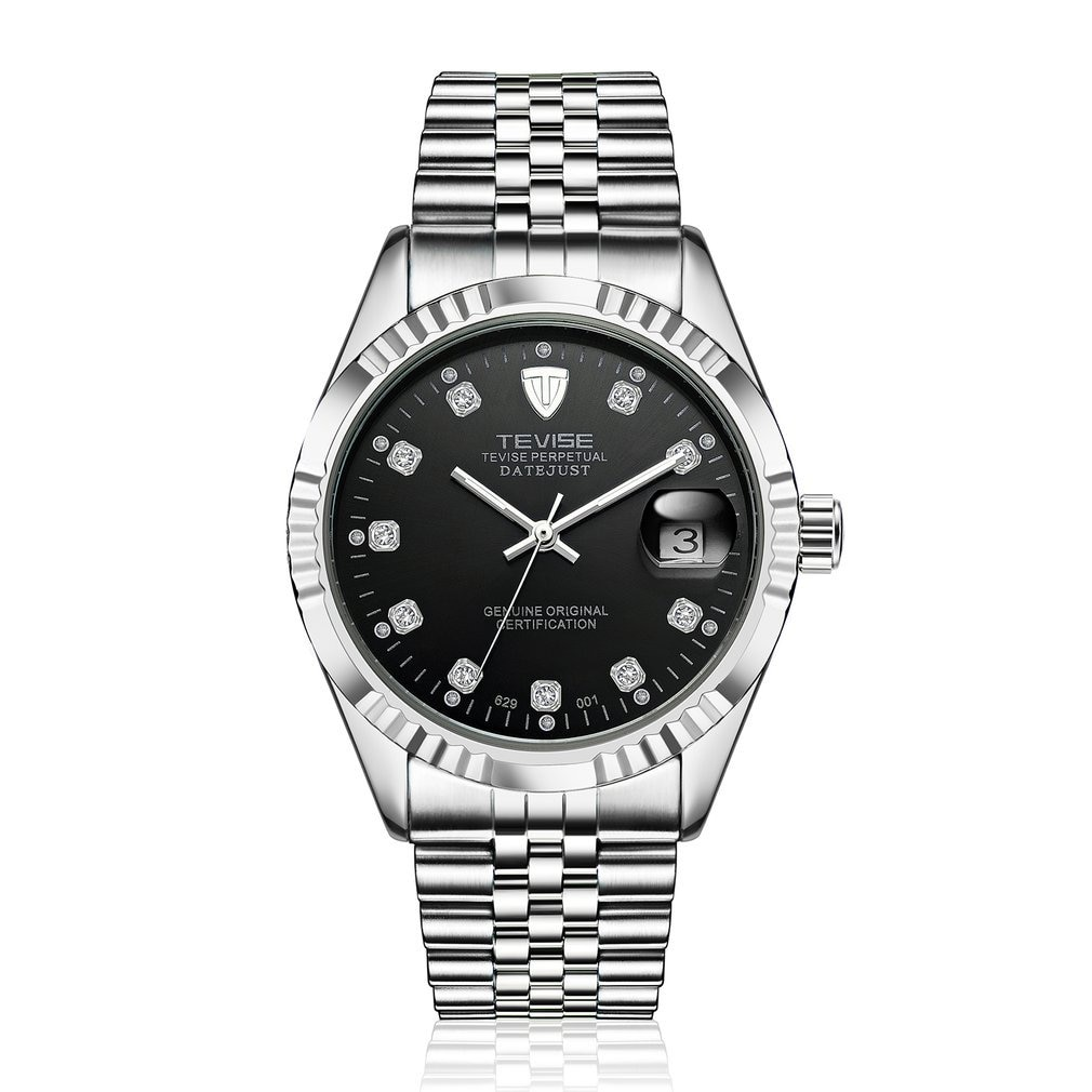 TEVISE 629-001 Business Style Men Automatic Mechanical Watch Needle Calendar Luxury Waterproof Stain