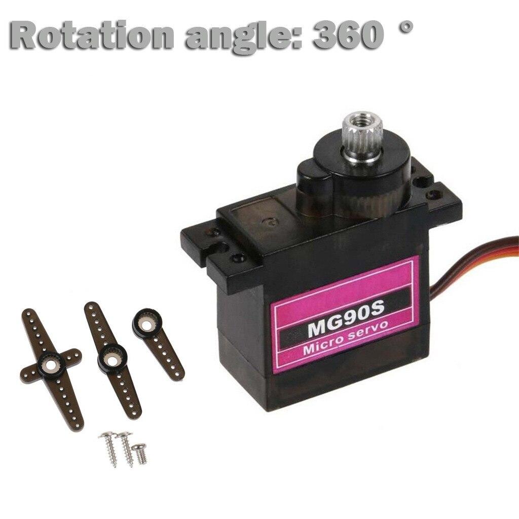 1PC MG90S Micro Metal Gear 9g Servo para RC de avión y helicóptero barco coche 360 ° accesorios juguetes Brinquedos juguetes игрушки #40
