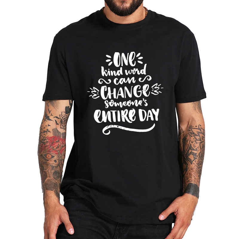 Unity Day T Shirt - Anti Bullying And Be kind TShirt - 100% Cotton Summer Tops Tee High Quality EU S