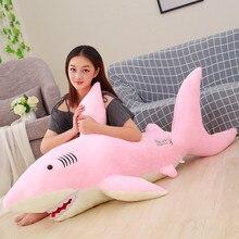 Big Soft Simulation Cute Shark Plush Toys Kawaii Stuffed Kids Children Boys Girls Lovely Animal Pillow for Birthday Gifts WJ620