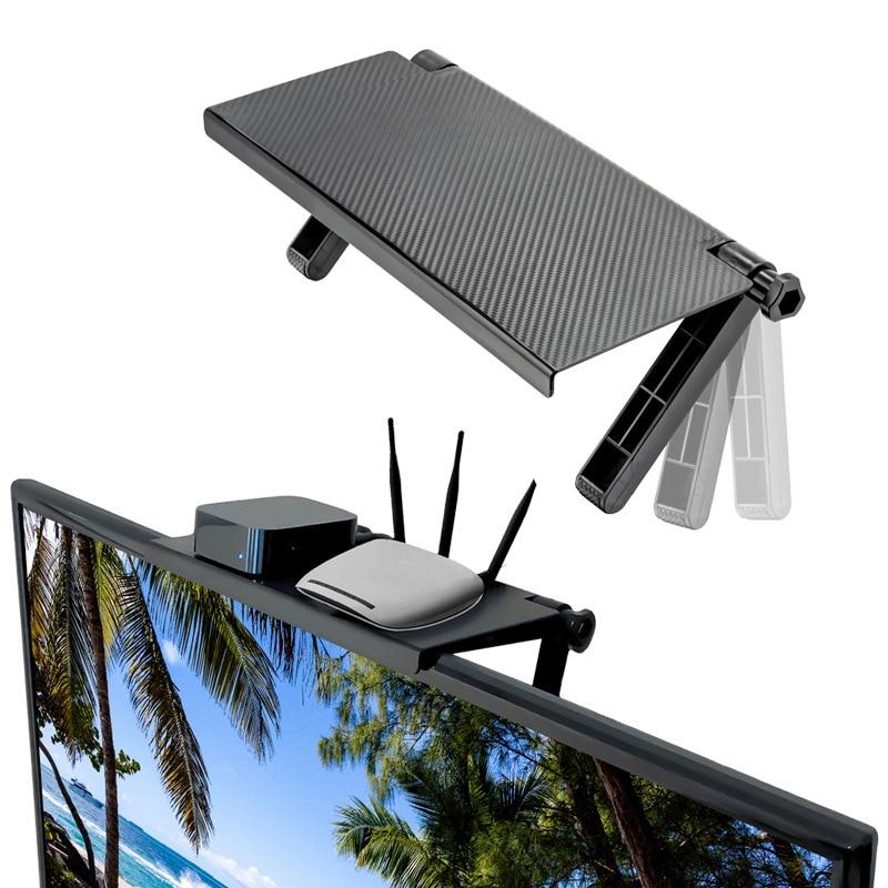 Регулируемый экран Верхняя полка дисплей полка компьютерный монитор стояк настольная подставка тв стойка стол для хранения