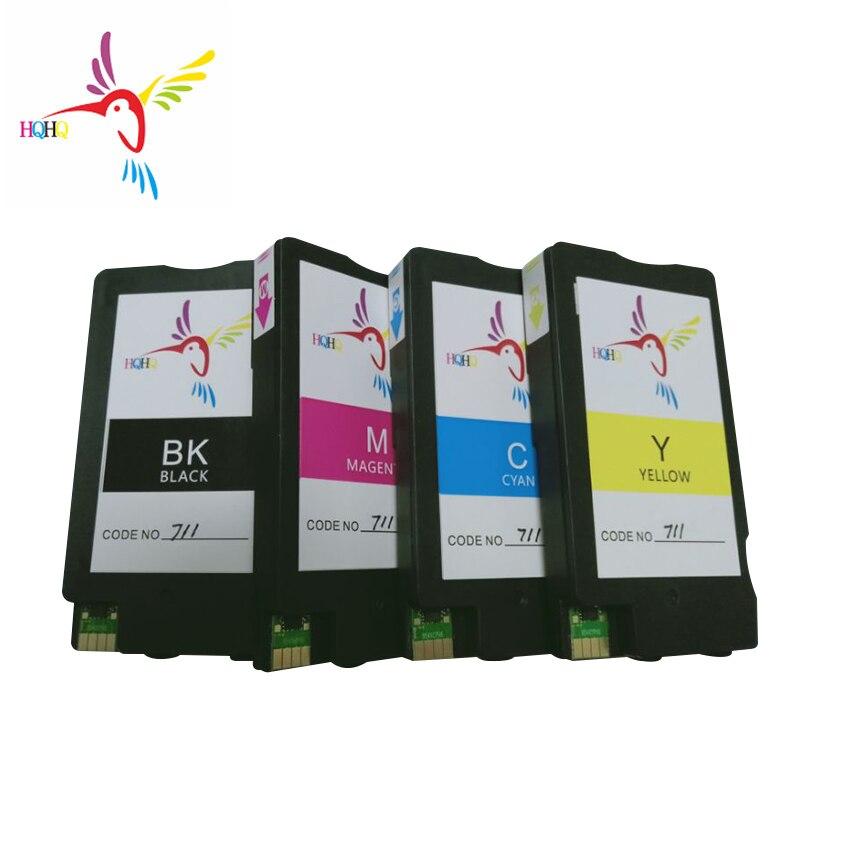 Hqhq remanufaturado cartucho de tinta para hp 711 711xl para hp t120 t520printer 711xl cartucho de tinta