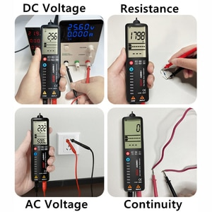 ADMS1CL Digital LCD Multimeter 3-Wire Display Automatic Voltage Tester Arc Screen Voltmeter With Analog Bar and 8 LED Indicators