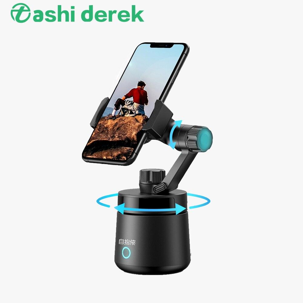 Suporte do Telefone ao Vivo Rosto de Rastreamento Suporte de Montagem Cardan Selfie Vara Ajustável Automático Rotação 360 Graus Vlog Tiro Usb 3d