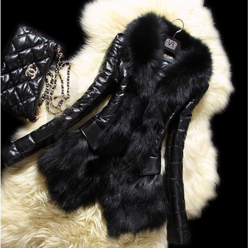 Black Fur Coat Female Autumn Winter 2020 Women's Imitation Fox Fur Coat Women Fur Thick Imitation Fur Mujer Outwear Ladies B8