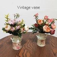 decorative vase nordic iron flower pot flowerpot art simple creative tabletop iron flower stand home living office decoration
