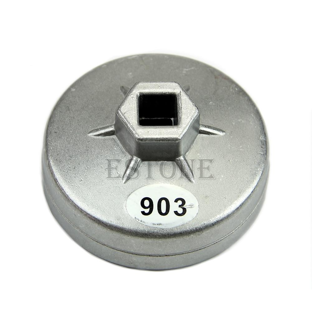 74mm 14 flauta de alumínio filtro óleo chave soquete ferramenta removedor para bmw audi benz