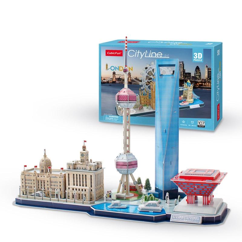 3 d puzzle miasta londyn, paryż, moskwa, wenecja i inne dekoracje zestaw puzzli model budynku papieru