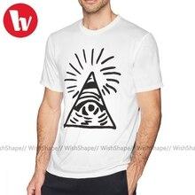 Misfit T-Shirt Illuminati signe avant la vie est étrange T-Shirt homme imprimé T-Shirt Fun plage T-Shirt à manches courtes